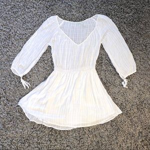 Urban Outfitters White Soft Gauzy Dress - Size S